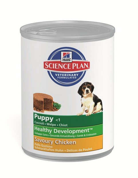 Консервы для щенков Hill's SP Puppy Healthy Development Savoury Chicken (курица), 370 гр.